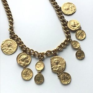 Vintage 90's Chunky Coin Necklace